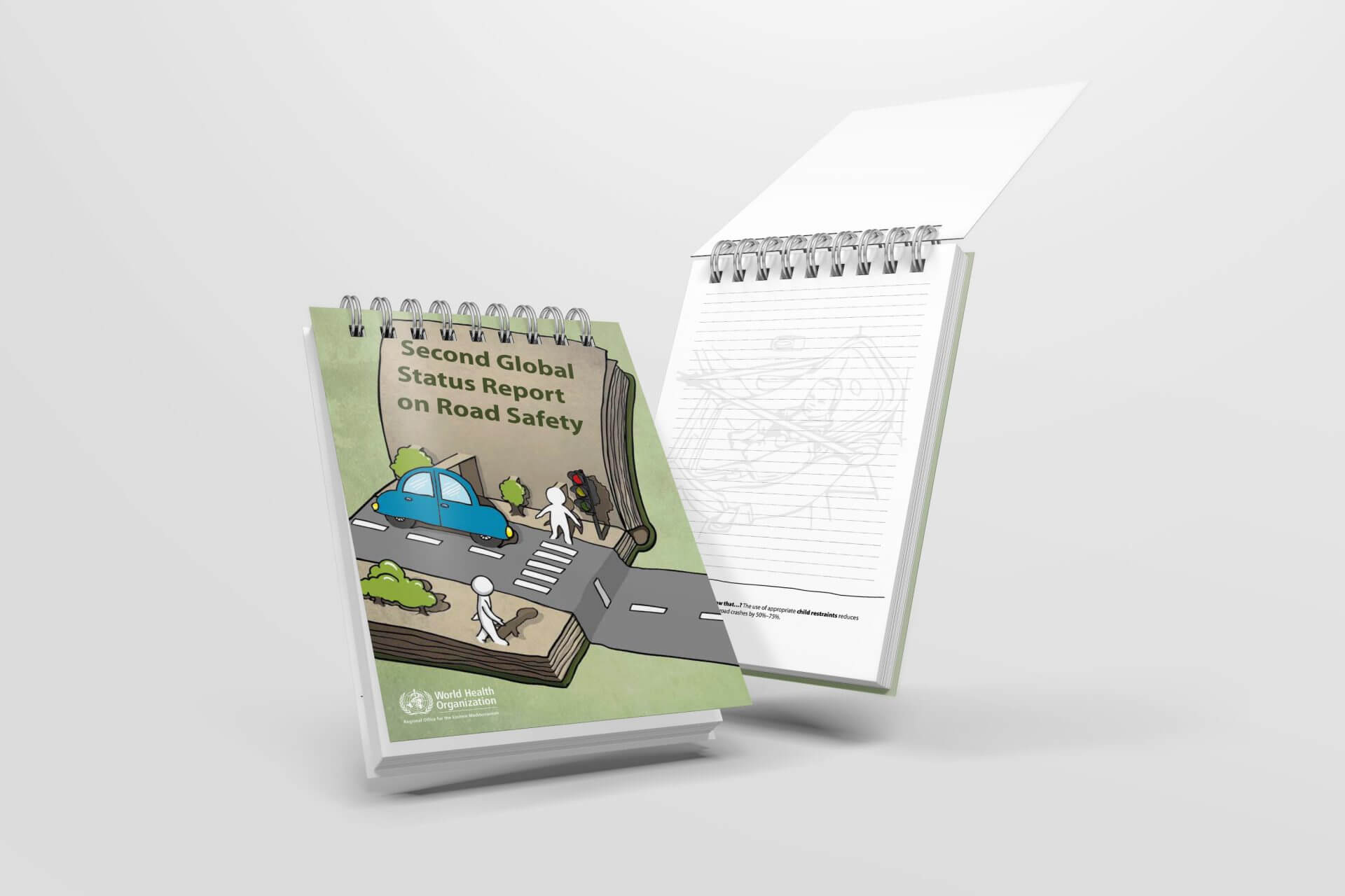 Road sefety notebook design